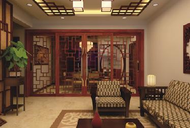 中式复古门窗效果